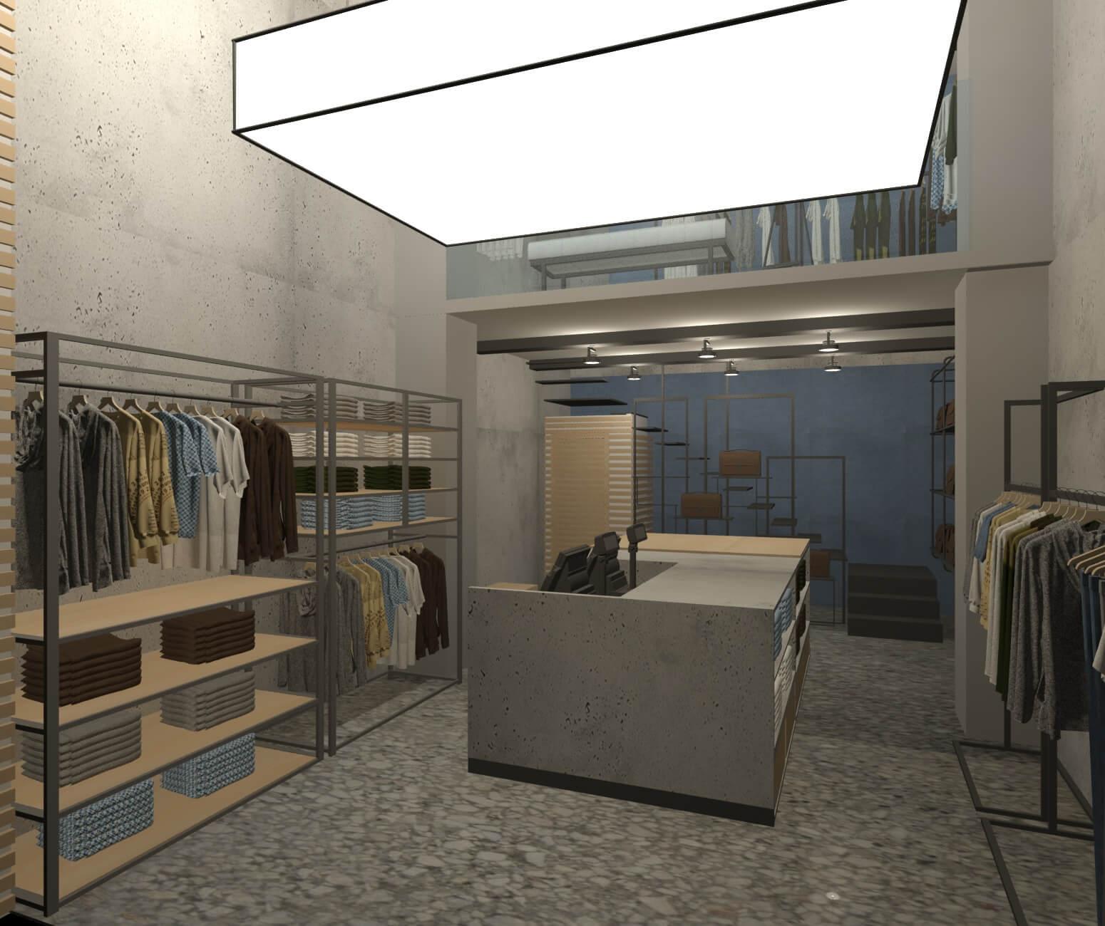 New boutique store design construction dca studio for Store building design